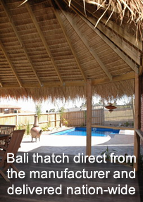Bali thatch direct from the manufacturer and delivered nation-wide