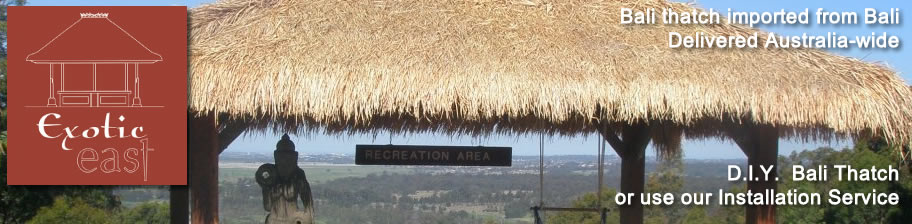 Functional, eco-friendly and easy to install Bali thatch